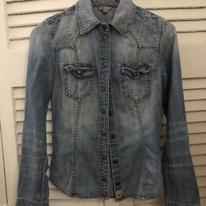 Guess denim shirt xxs